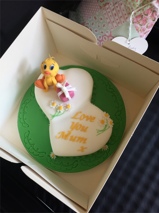 Special birthday cake for a special mum at Stapely Care