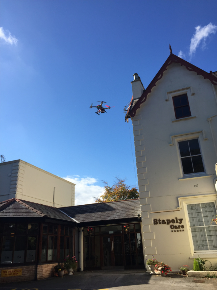 Lights Camera Action: our Film Director, Chris Corcoran's drone does its work during the production of our film on Stapely Care